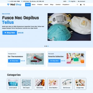 Shopping Cart Responsive Website Template