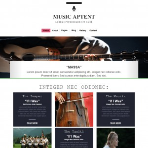 Free Music Website Template - Template On Web