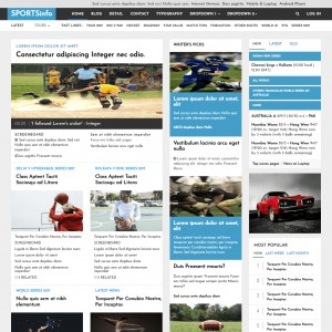 Cricket Match Sports Website Template