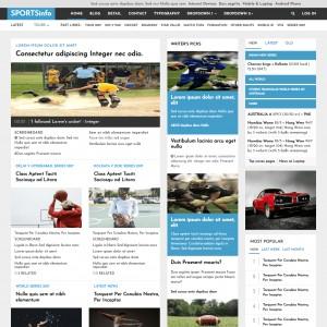 Cricket Match Sports Website Template