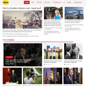 News Channel Website Template | Template On Web