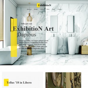 Art Gallery Responsive Website Template | TemplateOnWeb