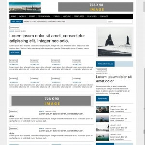 News Free Responsive Web Template Download