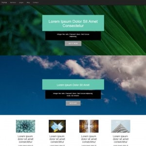 Simple Clean Free Bootstrap Template