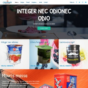 Cow Milk Products Free Website Template