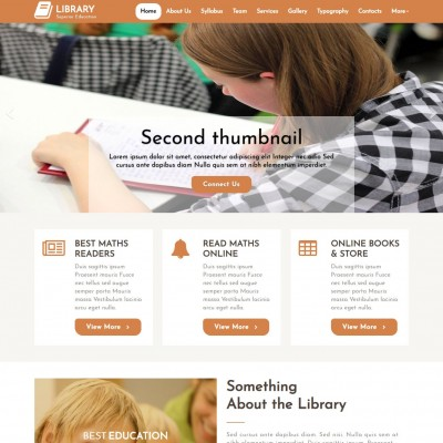 Learning Management System Website Template Templateonweb