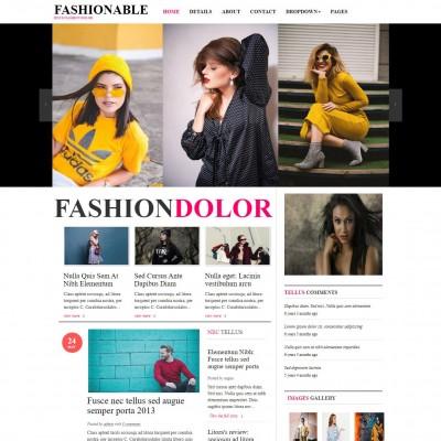 Fashion Blog Template Free Templateonweb