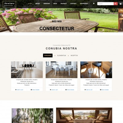 Furniture Website Template Free Download Templateonweb