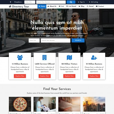 Business Directory Website Template Free