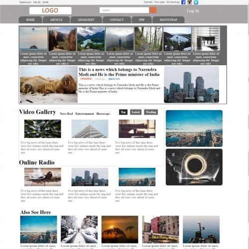 Magazine Responsive HTML Website Free Template
