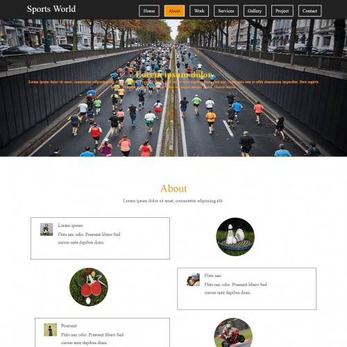Free Sports Team Website Template - Template On Web