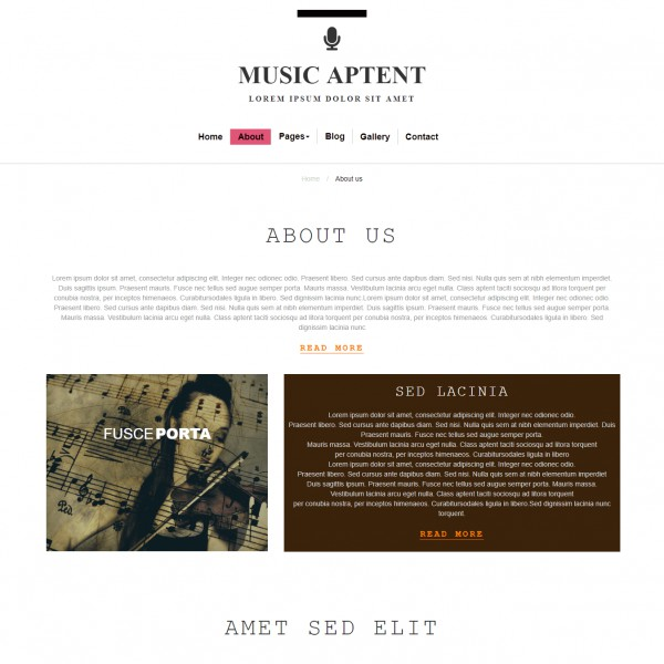 Free Music Website Template Template On Web