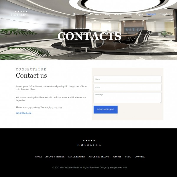 contact us template for website images template design ideas. Black Bedroom Furniture Sets. Home Design Ideas