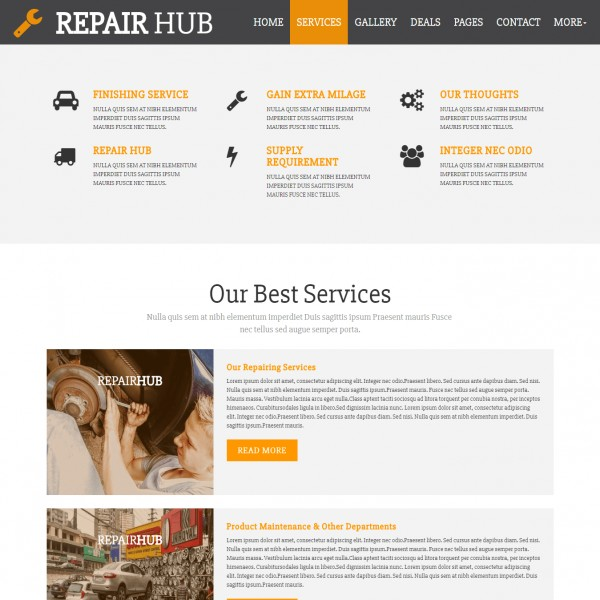 Car repair website template shop small business small business home html responsive repair services html friedricerecipe Choice Image