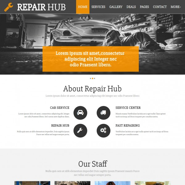 Car repair website template shop small business small business home html cheaphphosting Images