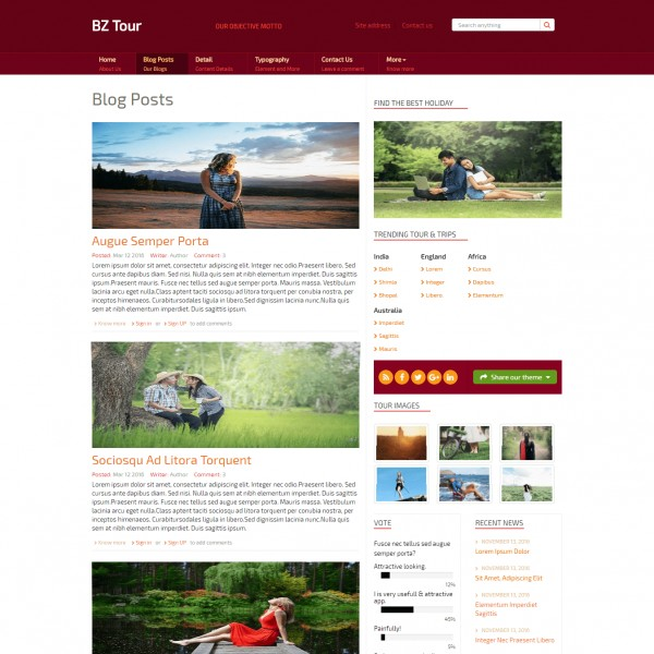 Tour Travel Guide Responsive Html Website Template