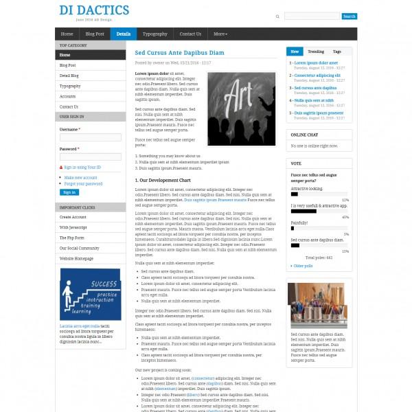 Tutorials Website Template