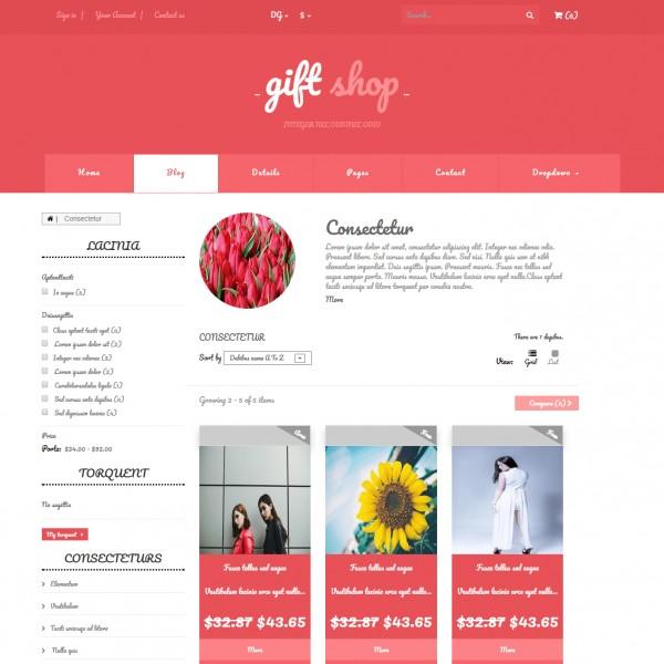 Gift Shop Website Template Shopping Cart Online Store