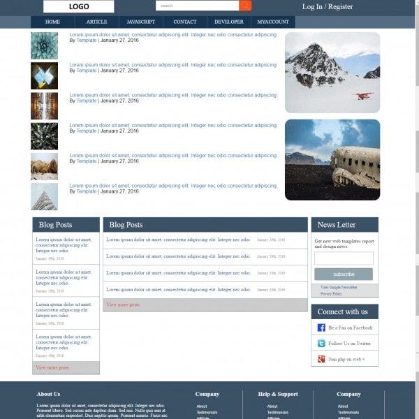 Technology | Developer | Responsive Blog Website Template | Download ...