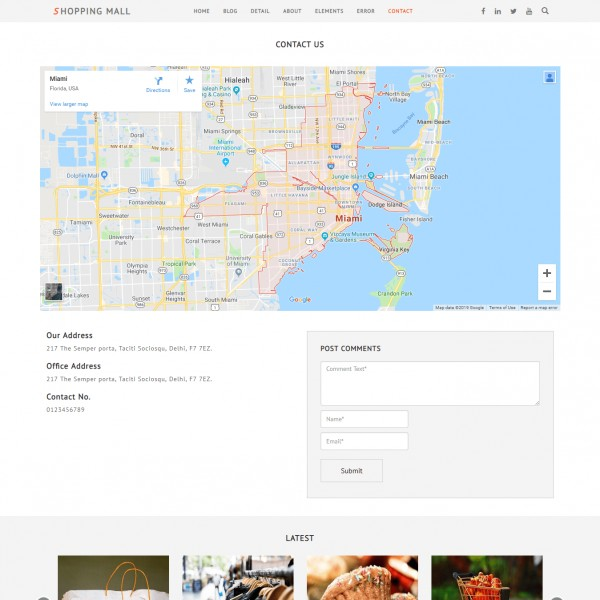 Shopping Cart Web Template Contact Page