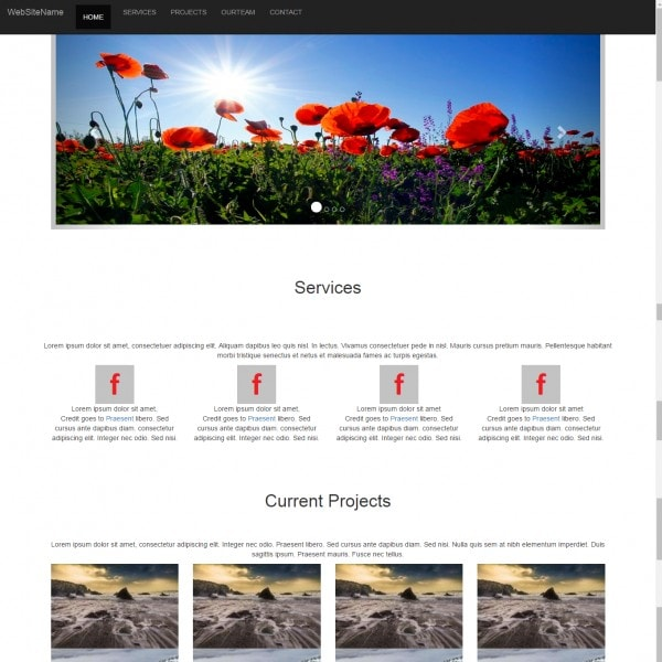 Company Profile One Page Free Bootstrap Website Template