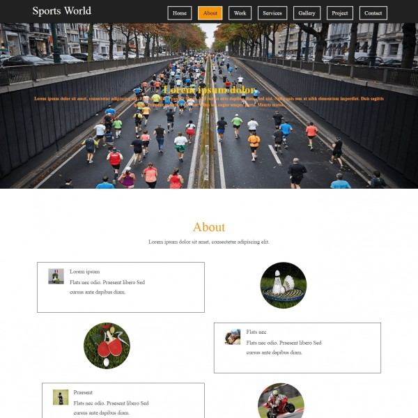 free sports team website template template on web