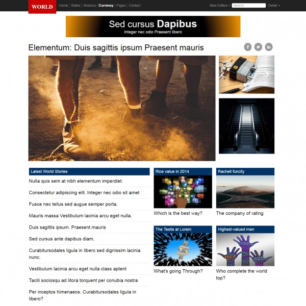 News Responsive Bootstrap Theme Download Free