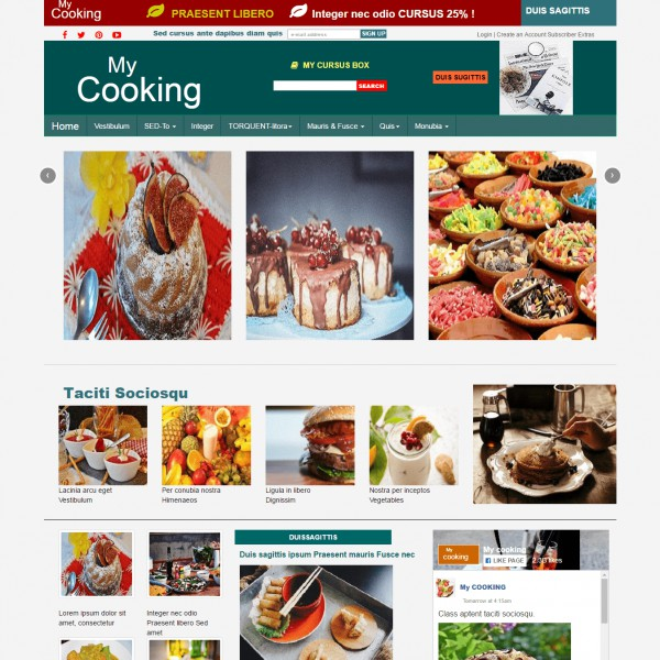 Recipe cooking free bootstrap theme recipe cooking responsive theme home page foods forumfinder Choice Image