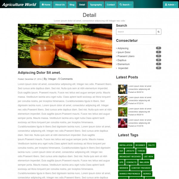 Agriculture Website Template | Template On Web