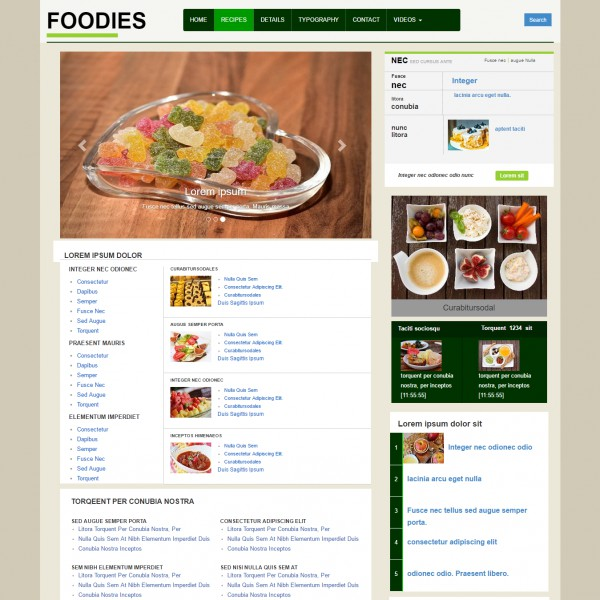 Restaurant food recipe cookbook free website template bootstrap restaurant web template free download maxwellsz