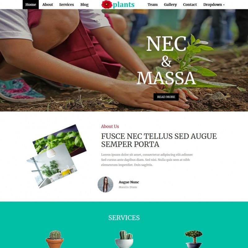 Plant Nursery Website Template